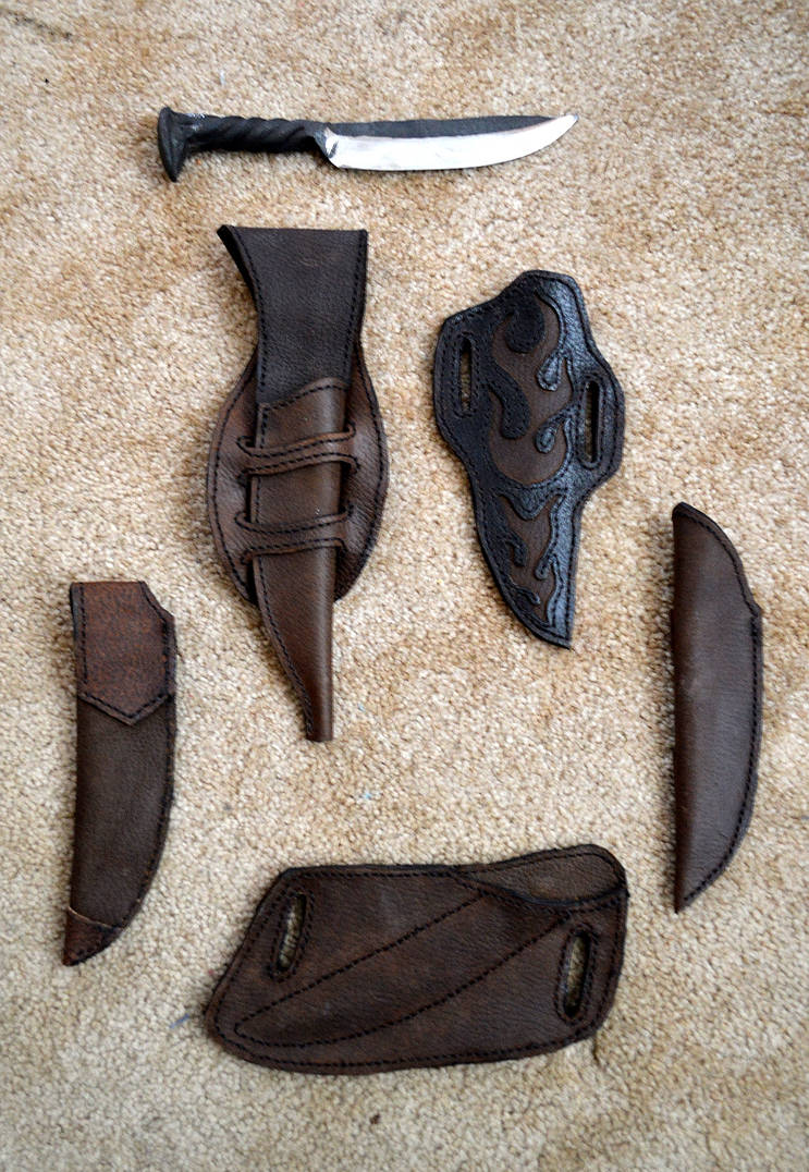 Leather Knive Sheath Commission by Lupas-Deva