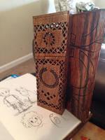 Scrollwork pencil case by TiredOrangeCat