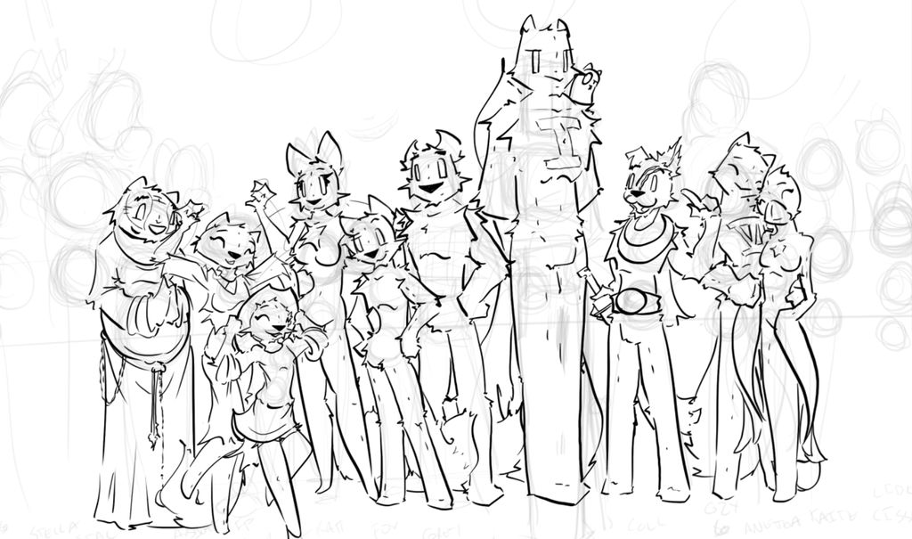 1000 Pages WIP by TiredOrangeCat