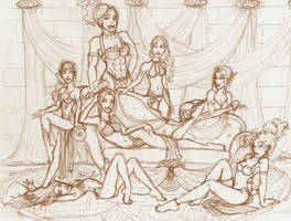 DnD Harem Ladies by TaylorBrooke123