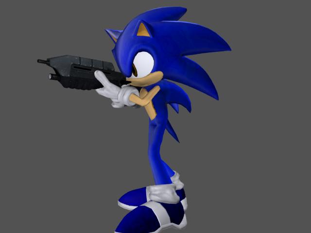 Sonic With Gun By Ryanlegojedi On Deviantart