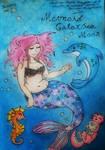 My Mersona Galaxsea Moon Watercolor Painting