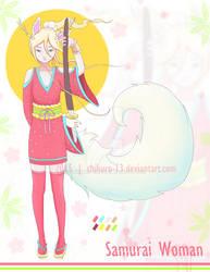 [CLOSED] Kemonomimi Adoptable Samurai Woman by Chikuro-13