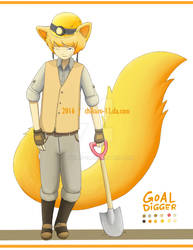 [OPEN] Fox Miner Kemonomimi Adoptable by Chikuro-13