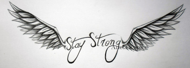 Stay Strong and Wings by Tirana-Weaving