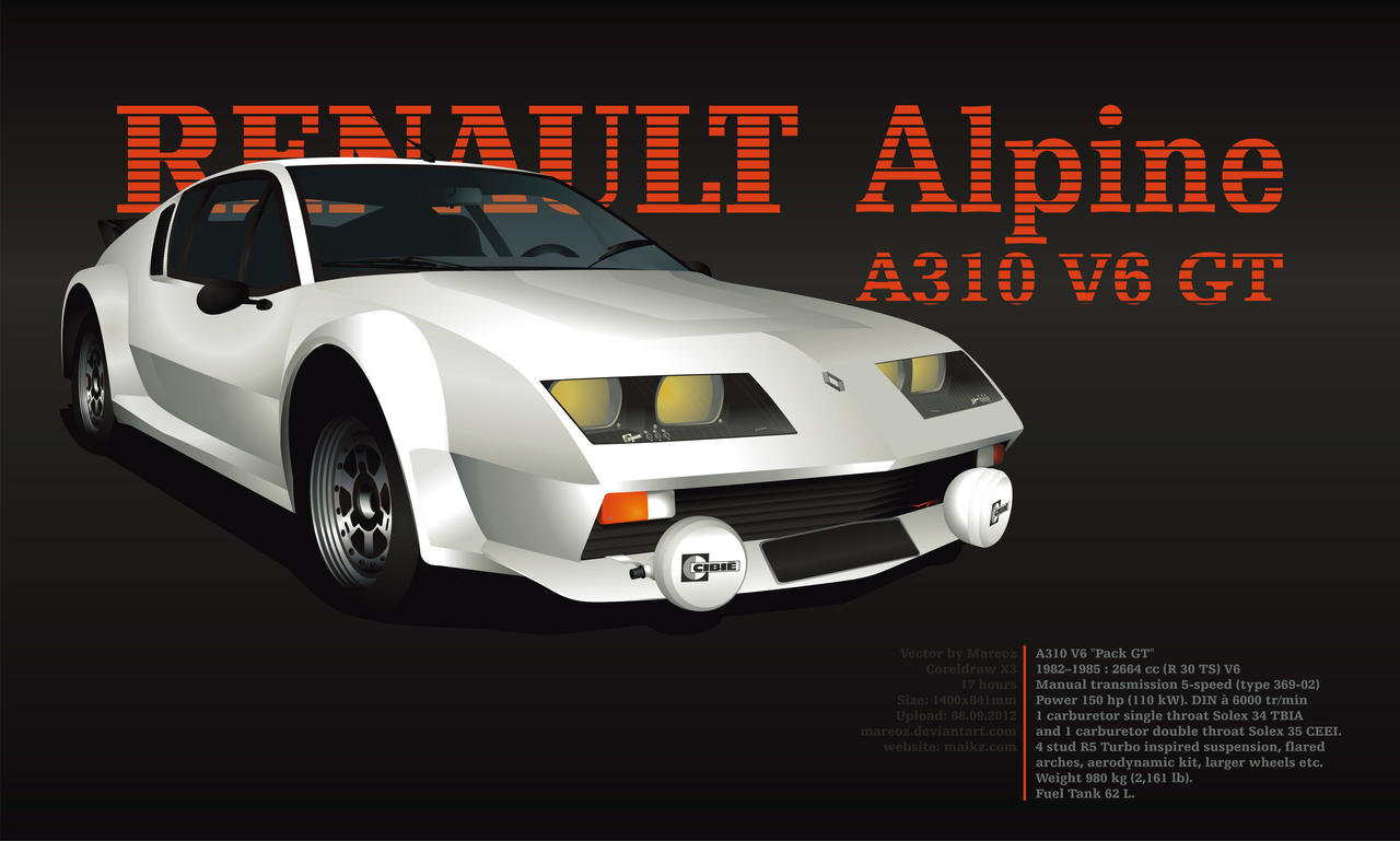 renault alpine a310 v6 gt by mareoz on deviantart. Black Bedroom Furniture Sets. Home Design Ideas