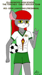 Erin Lanigeras on the girls soccer team by peridotdreams