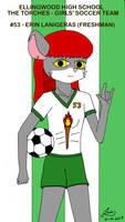 Erin Lanigeras on the girls soccer team