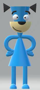 Huck 3D Model in Paint 3D by OddRed496