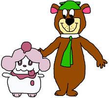 Yogi and Slurpuff by OddRed496
