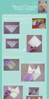 Pikachu Origami Finger Puppet