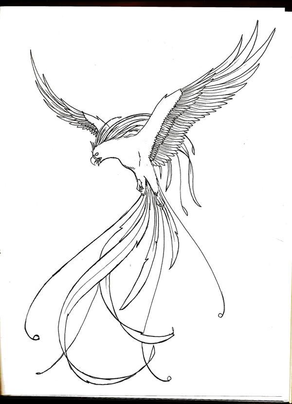 Phoenix Lineart by DarkPhoenixDragon17 on DeviantArt