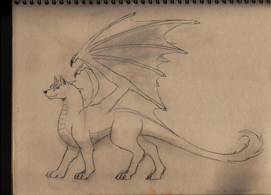 Wolf-Dragon Request by DarkPhoenixDragon17
