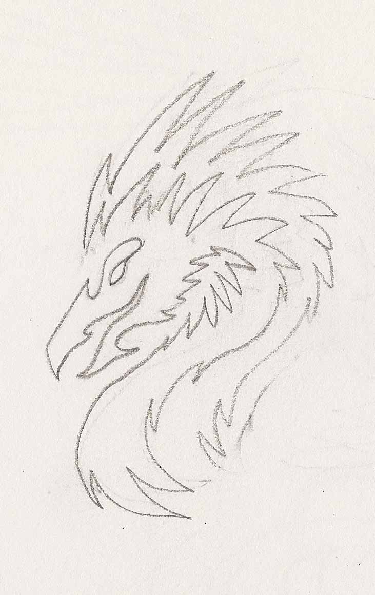 One Line Phoenix Head Doodle by DarkPhoenixDragon17