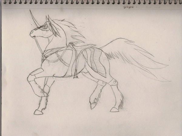 Phoenix Horse WIP Thing by DarkPhoenixDragon17