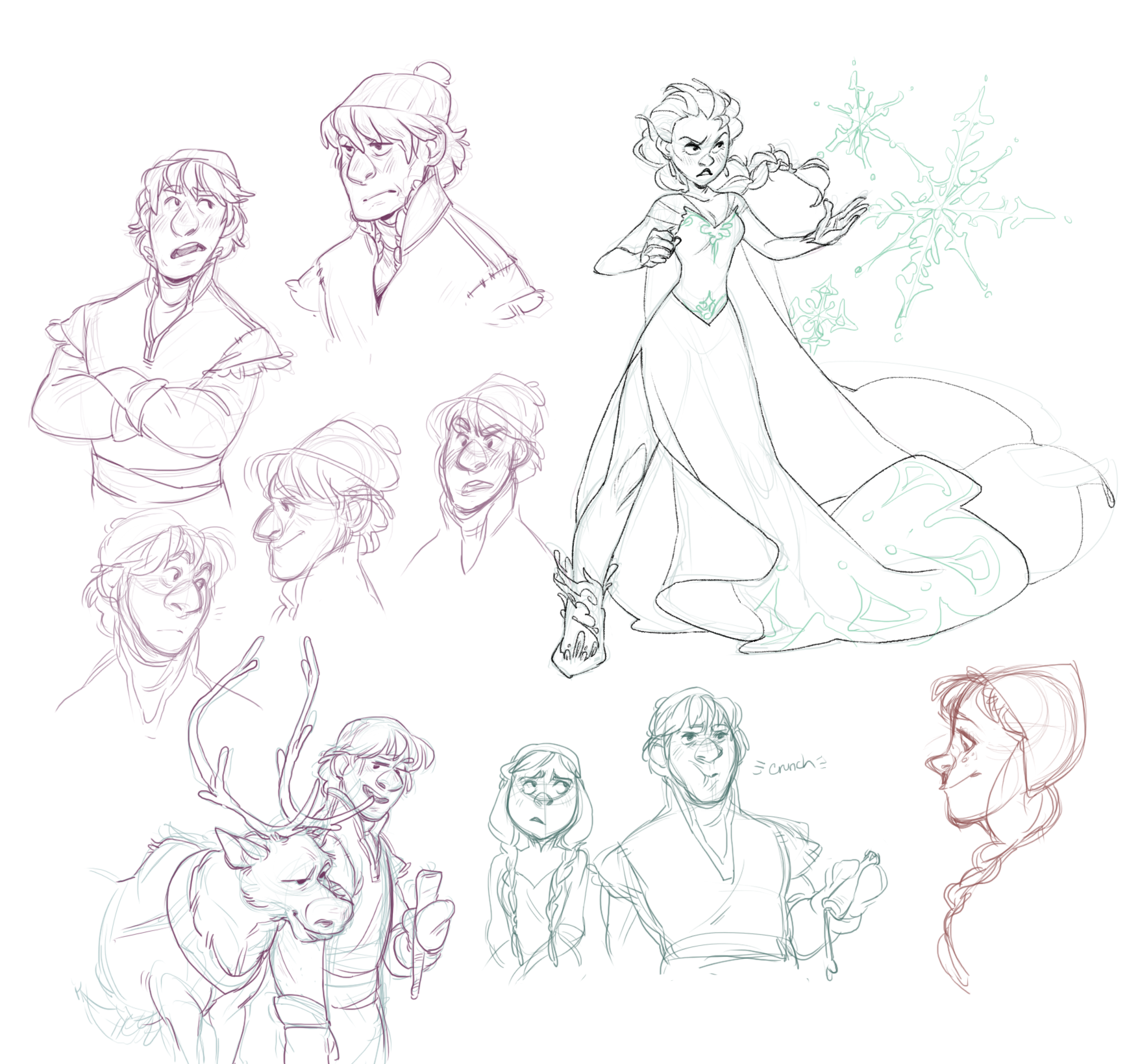 Frozen Drawing Tumblr Frozen doodles by agentdax