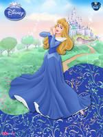 OriginalDisneyPrincess- Aurora In Blue ByGF by GFantasy92