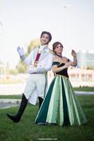 Prince Hans and Princess Anna cosplay by LeleDraw by GFantasy92
