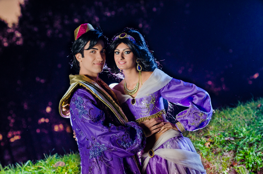 Prince Aladdin and Princess Jasmine Cosplay byGF by GFantasy92