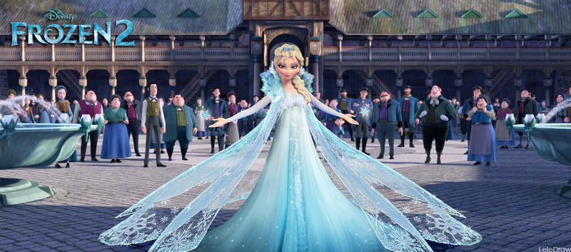 Frozen2 Queen Elsa NEW Design by LeleDraw by GFantasy92