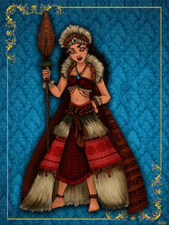 Queen Moana - Disney Queen designer collection
