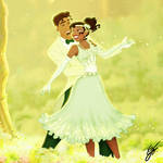 Tiana and Naveen for Valentine's day