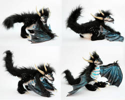 OOAK Poseable art doll, Dragon by FellKunst