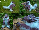 OOAK Poseable art doll, Dragon, Commission