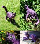 Violet, Posable Art Doll, Cat