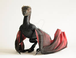Game of Thrones, Drogon, art doll by FellKunst