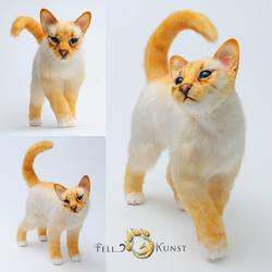 Poseable art doll, cat by FellKunst