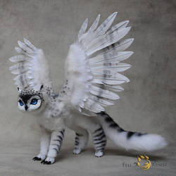 Poseable Art Doll, Owlgriffin by FellKunst
