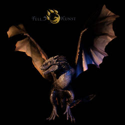poseable art doll, inspired by the ice Viserion