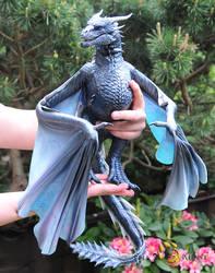 Game of Thrones Viserion, Poseable Art Doll by FellKunst