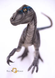 Velociraptor art doll