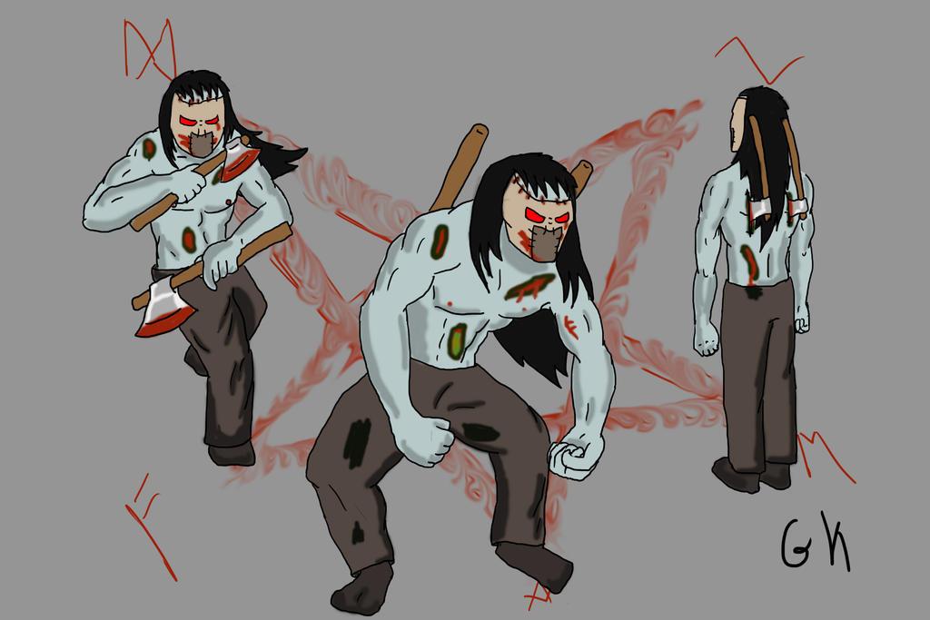 Mr. Axe-Zombie-guy by Gary3-6-9