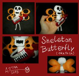 Skeleton Butterfly Plush