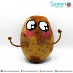 Potato custom plush by DemodexPlush