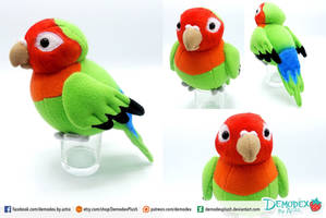 Lovebird Plush by DemodexPlush