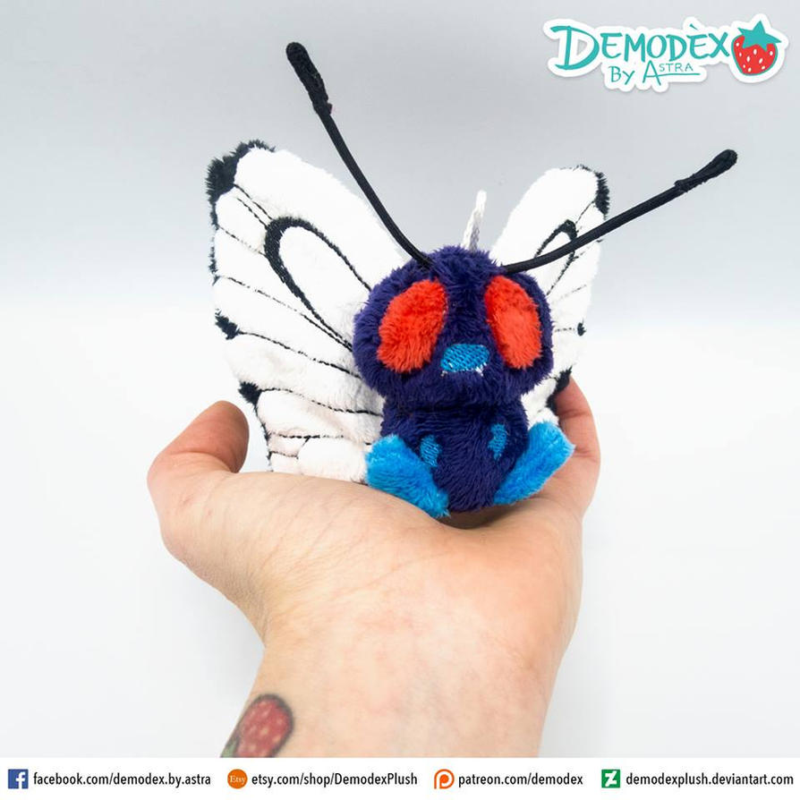 Butterfree plush by DemodexPlush