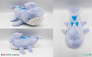 Wailord fakemon Plush by DemodexPlush