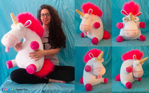 Fluffy unicorn Plush by DemodexPlush