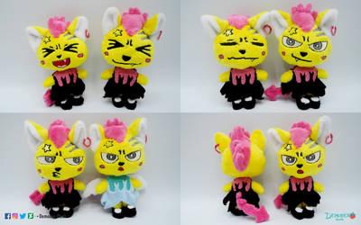 Little cats plushes by DemodexPlush