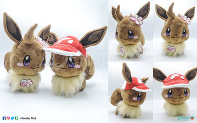 Eevee chibi plush for sale by DemodexPlush