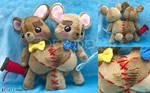 Siamese bear plush