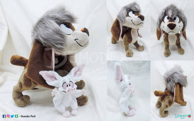 Pooka and Bartok custom plush