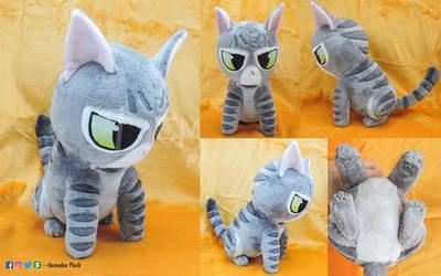 Grumpy kitty handmade plush