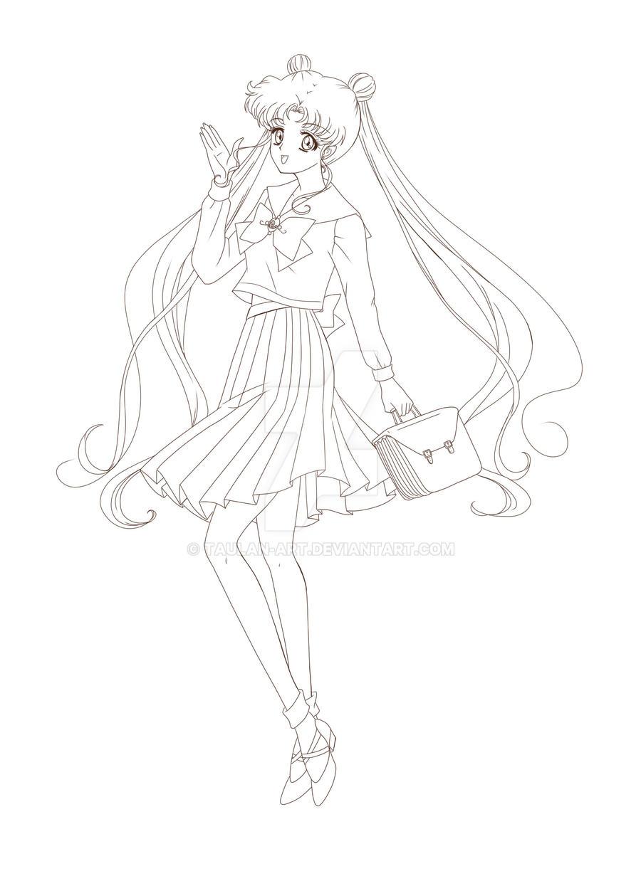 Usagi Tsukino Sailor Moon Crystal by Taulan-art on DeviantArt