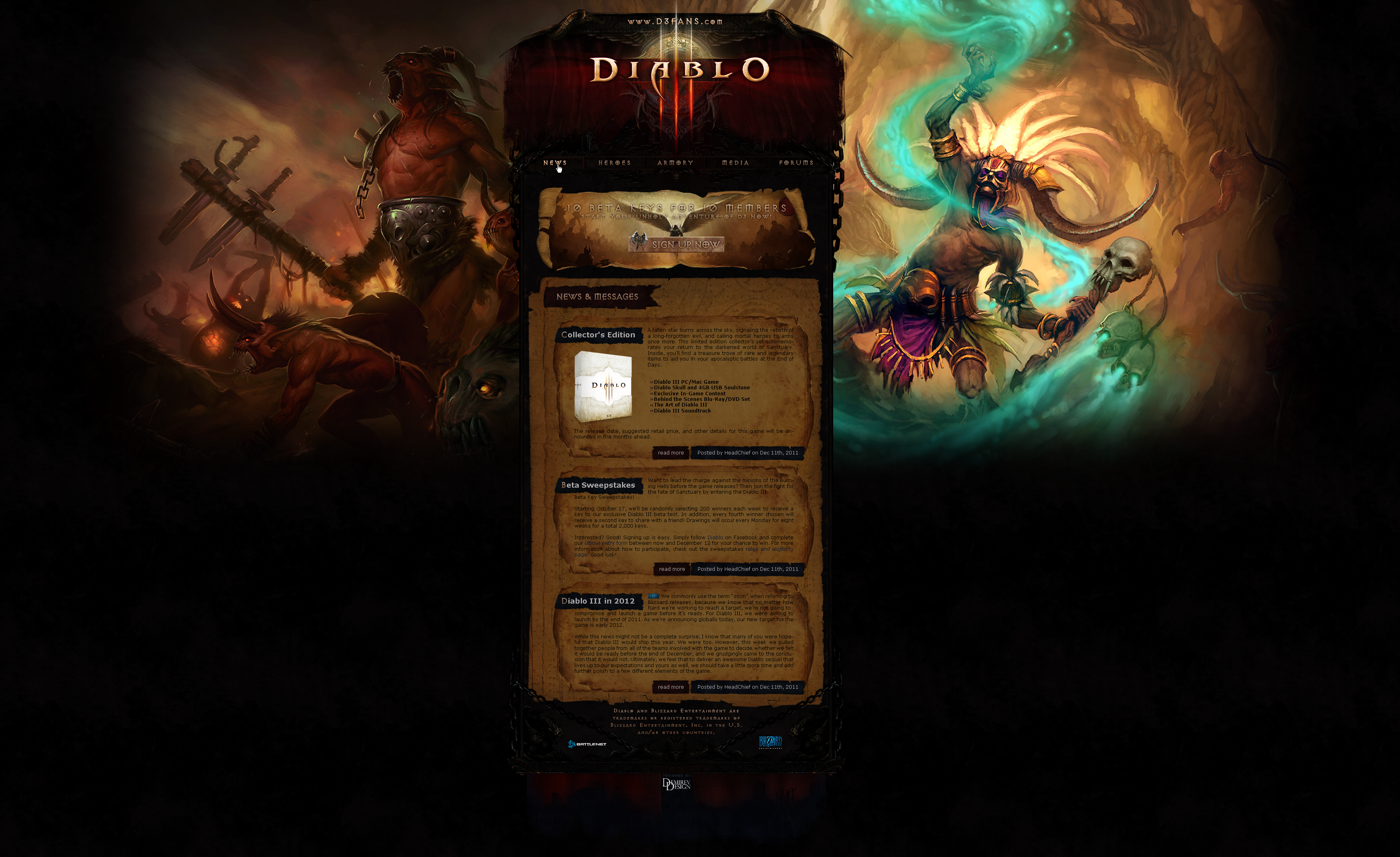 Diablo 3 Fansite Template v2.3 by NicotineLL