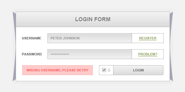 Free Simple Login Form by NicotineLL